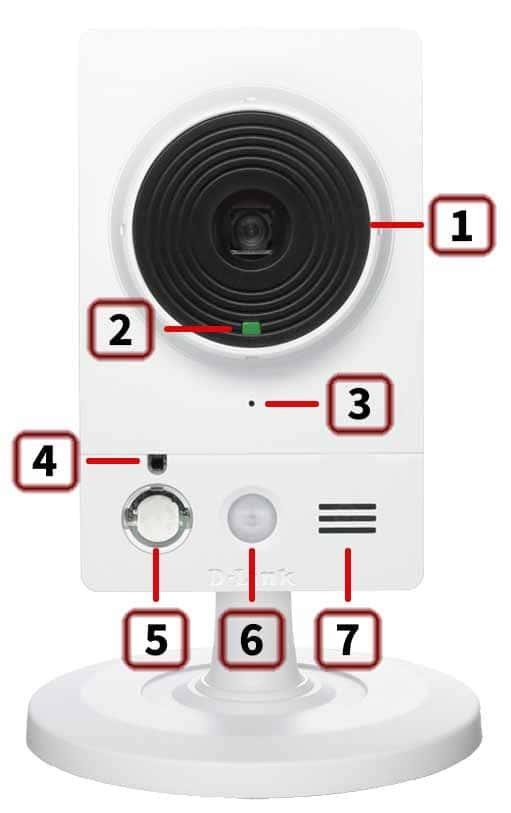 D-Link DCS-2210 – передняя панель Full HD камеры