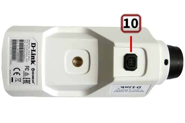 D-Link DCS-3010 – нижняя панель