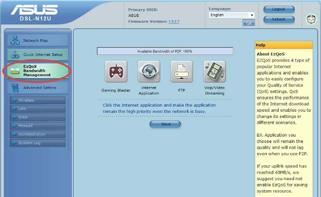WiFi роутер – настройка и управление шириной канала EzQoS
