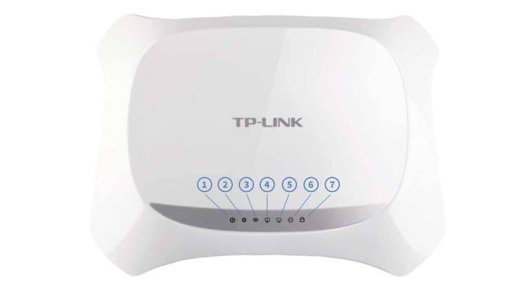 Маршрутизатор TP-Link TL-WR720N - индикаторы на передней панели