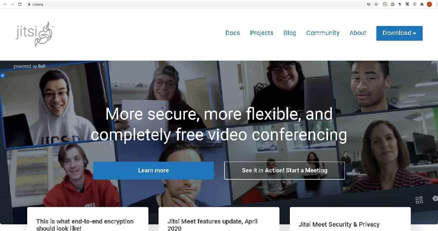 Jitsi - бесплатные видеоконференции через интернет